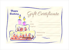 Download Gift Certificate Template Design Gift Vouchers Free Candles And Cake Birthday Gift Certificate