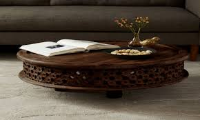 modern moroccan coffee table solid wood tables carved west elm mango b5118d6b699