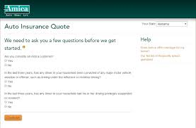 amica auto insurance quote step 2