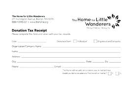 Tax Donation Receipt Template Page 1 Format Canada Slip