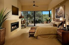 View in gallery Master bedroom with warm neutral tones