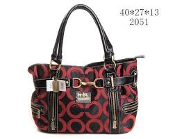 Coach Buckle In Signature Medium Red Satchels EIU  coach-1202950  -  62.99    Coach Bag