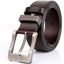 men s belt casual jeans top grain genuine cow leather belt for men with single g