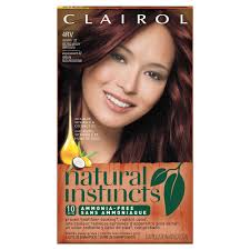 Natural Instincts Light Golden Red Clairol Natural Instincts Non Permanent Hair Color 4rv 32