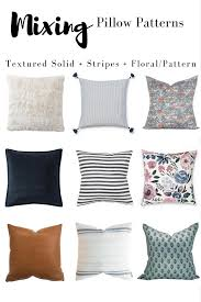 Pillow Patterns Delectable Mixing Pillow Patterns And Pillow Cover Ideas Decor Hint