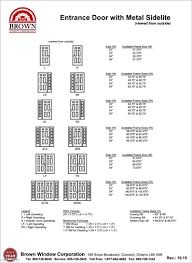 Awning Window Size Chart From Brown Window Corporation