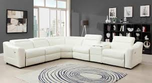 White Leather Living Room Furniture 6 Pc Instrumental Collection White Bonded Leather Upholstered