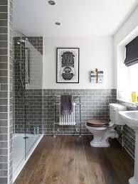 traditional bathroom designs. Alcove Shower - Traditional Gray Tile And Subway Dark Wood Floor Brown Bathroom Designs I