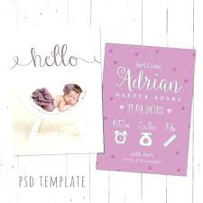 Baby Girl Birth Announcements Template Free Baby Birth Announcement Templates Girl Card Template Free Wording
