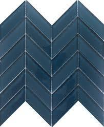 Light Blue Herringbone Tile Edge Emser Tile