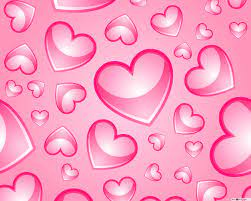 lovely pink artistic hearts ...