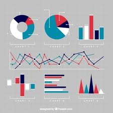 Vector Graphs And Charts Variety Of Charts Vector Free Download