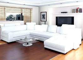 white leather sofa sectional living room with black and sectionals
