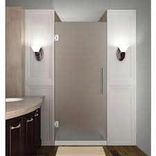 frosted shower doors. Completely Frameless Hinged Shower Door With Frosted Doors The Home Depot