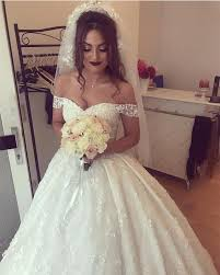off the shoulder princess wedding dress ball gowns 2018 lace