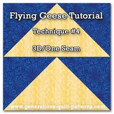 3D Flying Geese Quilt Block &  Adamdwight.com