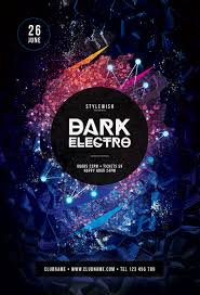Electro Flyer Dark Electro Flyer Template by styleWish on Dropr 1
