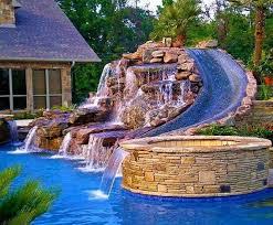 backyard pool with slides. Best Backyard Pool Slides Elegant Plain House Pools With  Throughout Ideas Backyard Pool Slides N