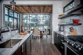 black kitchen cabinets hickory wood floors view full size
