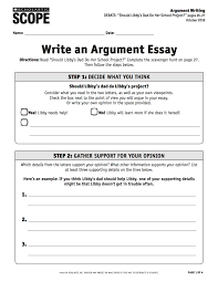 how to scope ideabook students can refer to the list of tone words while writing and use the argument essay checklist to evaluate and revise their essays