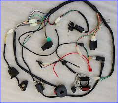 gy6 wiring harness full electrics wiring harness coil cdi 50cc 70 110cc atv quad bike buggy go kart
