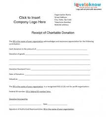 donation receipt forms charitable donation receipt