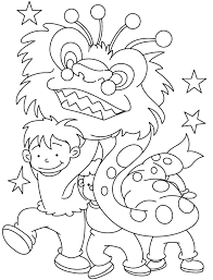 Small Picture Young Children Celebrate Chinese New Year Coloring Pages