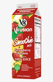 V8 Strawberry Banana Light 21231 V8 Fusion Strawberry Banana 32oz Carton Liquid