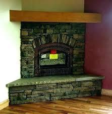 gas fireplace rock astonishing design gas fireplace rocks