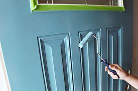 painting front doorIHeart Organizing June Monthly Challenge We Painted the Front Door