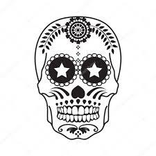 мексиканский череп тату мексиканские череп татуировки в черном на