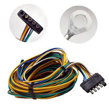 boat trailer lights reflectors wiring harnesses great lakes standard 25 ft boat trailer wiring harness 5 prong