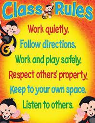 Preschool Class Rules Chart Trend Enterprises Class Rules Monkey Mischief Learning Chart