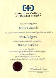 dr boban dmd resume curriculum vitae dental hygiene college diploma canadian college of dental health in burlington ontario 2008