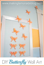 diy erfly wall art for girls bedroom