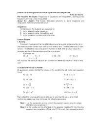 inequalities with absolute values on both sides math solving absolute value inequalities worksheet fresh methods of