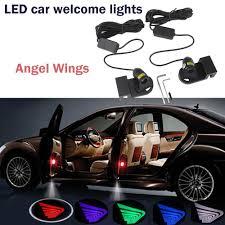 Angel Wings Light Car Universal 2pcs Led Car Welcome Lights Angel Wings For Sedans Cars Trucks 5 Colors