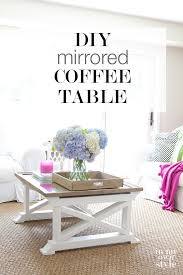 repurposed mirror coffee table in my