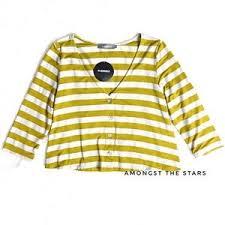 Alembika Size Chart Alembika Honey Stripe Button Up Cardigan Nwt