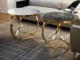 Italian Coffee Table Nella Vetrina Ottoline Contemporary Italian Gold Metal Coffee Table