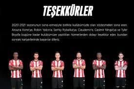 Sivasspor, 6 futbolcusuna teşekkür etti - MEGA SPOR