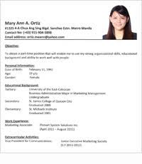 Best Ideas Of Sample Teacher Resume In The Philippines With Template