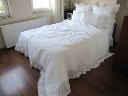 shabby chic bedding sets queen duvet cover white on cotton eyelet ruffle around shabby chic comforter