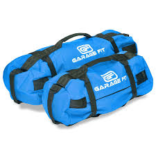 heavy duty weighted sandbags blue by garage fit