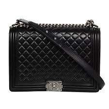Chanel Black Leather Quilted Large Boy Flap Bag at 1stdibs & Chanel Black Leather Quilted Large Boy Flap Bag 1 Adamdwight.com