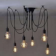 adjustable lighting fixtures. Cherry Juilt 6 Head Ceiling Spider Lamp E27 Vintage Pendant Lighting Antique Adjustable Chandelier Fixtures