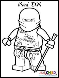 Small Picture Ninjago Kai Lego Ninjago Coloring Pages