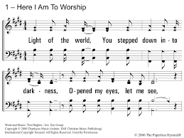 Light Of The World You Stepped Down Into Darkness Song Here I Am To Worship