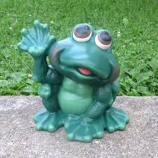 frog statues for garden large