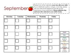 Monthly Behavior Chart Editable
